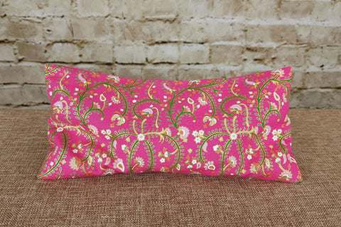 Yoga Eye Pillow Aromatherapy - Pink with Gold Shimmer