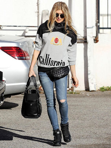 feee6df41baf Rap star and singer Fergie steps out in Los Angeles looking beyond chic  with a designer quilted fanny pack. Whilst trend setter Kendall Jenner  demonstrates ...