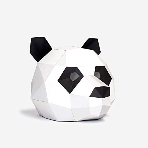 Panda Animal Mask | DIY Paper Mask | Geometric 3D Design | Low Poly