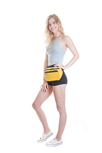 bright Retro bum bag Fanny waist Pack perfect summer festival accessory - yellow