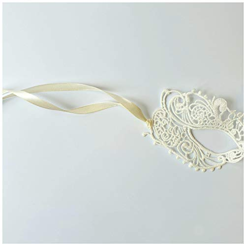 Ivory Goddess Lace Bridal Mask