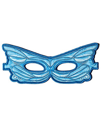 Childs Embroidered Fairy Mask for Costume Parties, Dress Up and Festivals- Blue