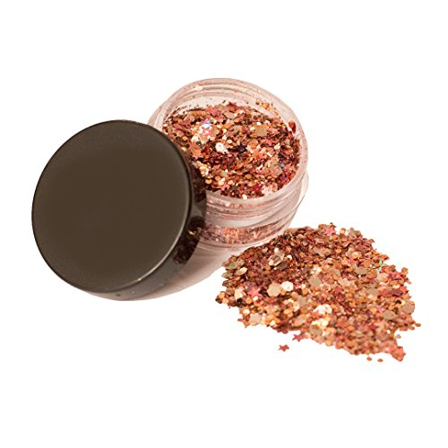 Rose Gold Chunky body Glitter, great Festival makeup, Face Body Hair Nails