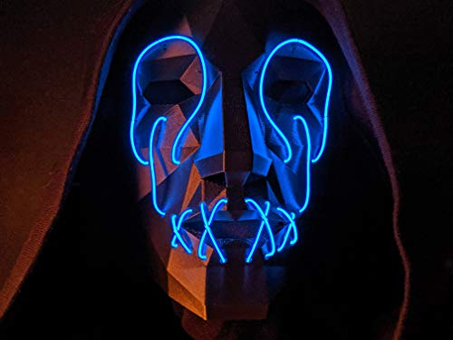 Slasher Mask - Light Up LED Glow Mask - EL Wire