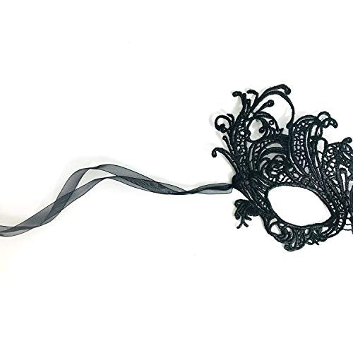 Renaissance Black Lace Mask