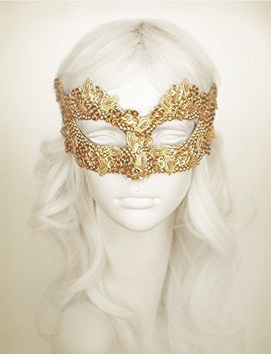 Sequined Gold Masquerade Mask