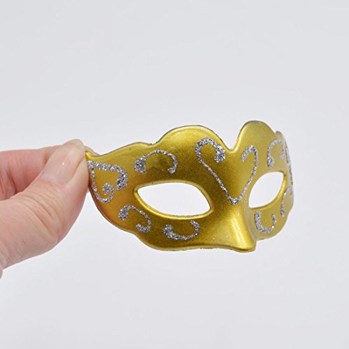 Gold Mini Masquerade Masks Party Decorations
