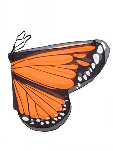 Butterfly Wings festival fairy Costume Shoulder and Finger Loops - orange