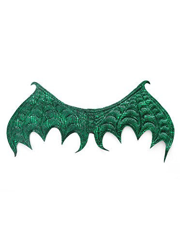 Scaly Dragon Mask and Wing Costume Sets for Parties, Dress Up, Festivals Boys & Girls - Green