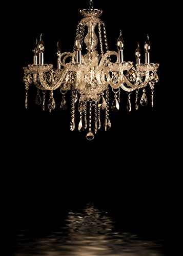 Gorgeous Decadent Crystal Chandelier Black Backdrop for Party and special event Decorations