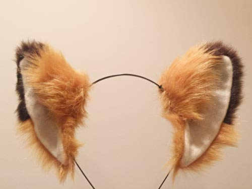 Cat ears Headband - Brown Fox Furry Animal Costume