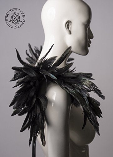 Black feather shrug