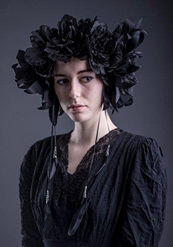 Dark Romance Black flower crown - headdress