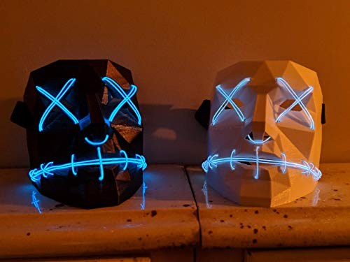 Handmade Purge Mask - Light Up LED Unique Mask