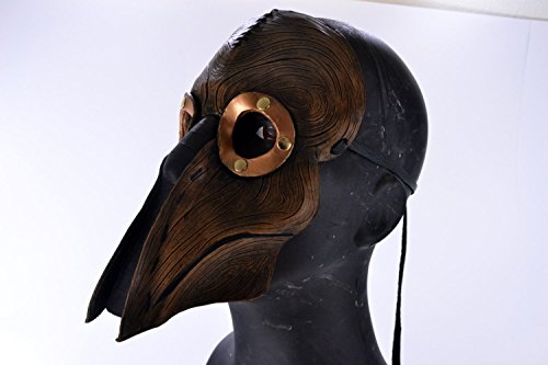 Steampunk Handmade Genuine Leather Mask in Brown for Masquerades Cosplay or Halloween - Man's Present