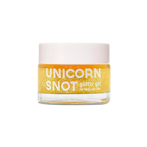 Unicorn Snot Holographic Body Glitter Gel great Festival makeup, body face nails - gold