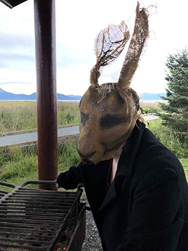 Scary Rabbit Mask - Creepy Bunny Mask - Halloween Horror Prop - Made to Order Burlap Scarecrow Mask - Party Animals Masks