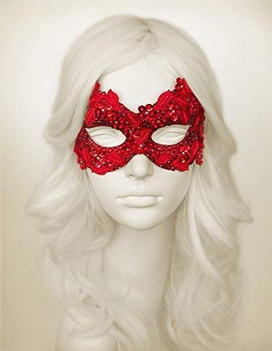Sequined Red Masquerade Mask