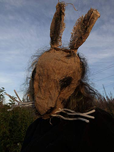 Creepy Scary Burlap Rabbit Masks - Handmade Custom Halloween Props - Adult Cosplay LARP Horror Costume - Masquerade, Carnival Masks