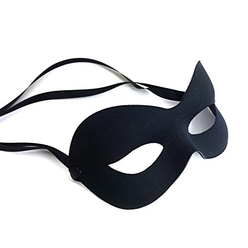 Classic Black Mens Masquerade Mask - made in Milan