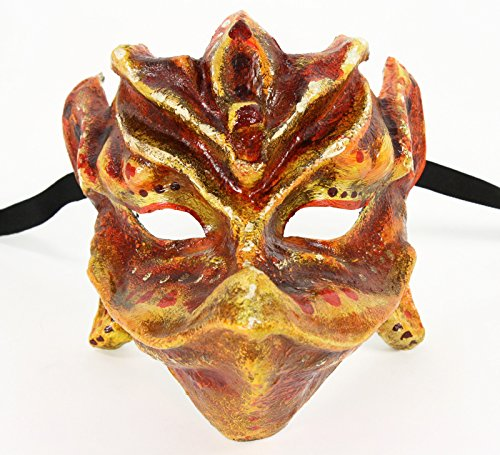 Italian Made Venetian Mask Baby Dragon (Orange)