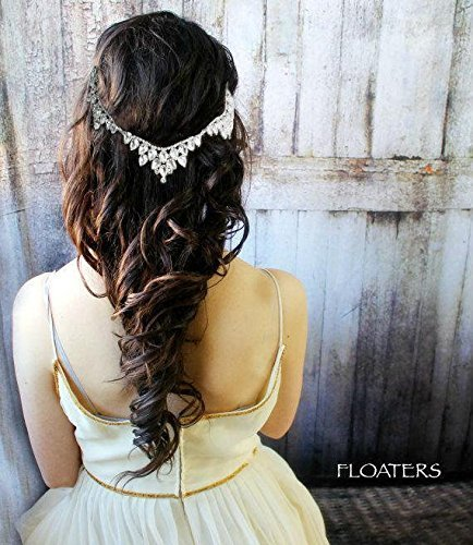 Crystal Bridal Head Chain, Goddess Headpiece, Wedding Hair Accessories, Glam Hair Jewelry, Designer Headband