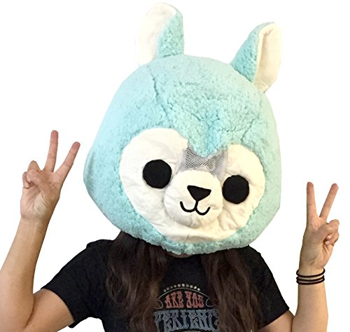 Clever Idiots Animal Head Mask - Plush Costume Halloween Cosplay (Alpaca)