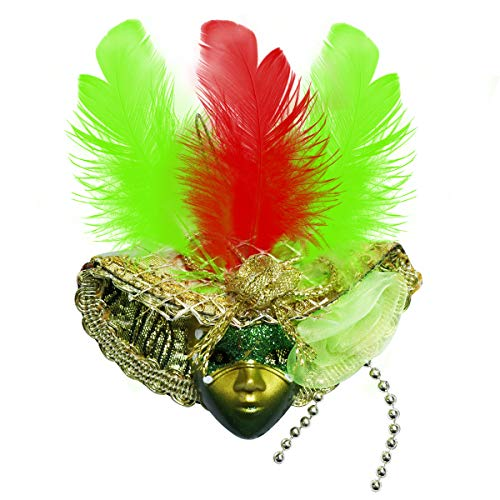 12 x Miniature Mini Masquerade Masks - teeny feathered masks ideal for cake decorations