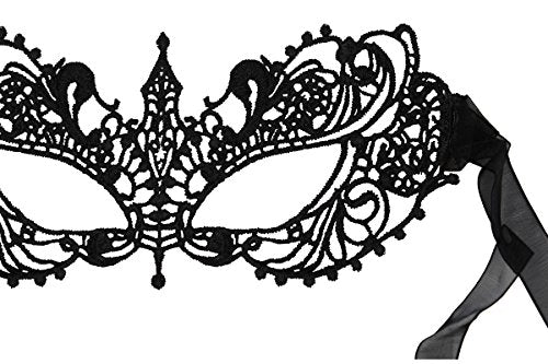 Luxury Mask Women's Lace Eye Mask for Masquerade Party Prom Ball Halloween New 2017 Update
