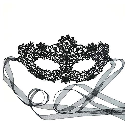 Coachella Black Lace Mask
