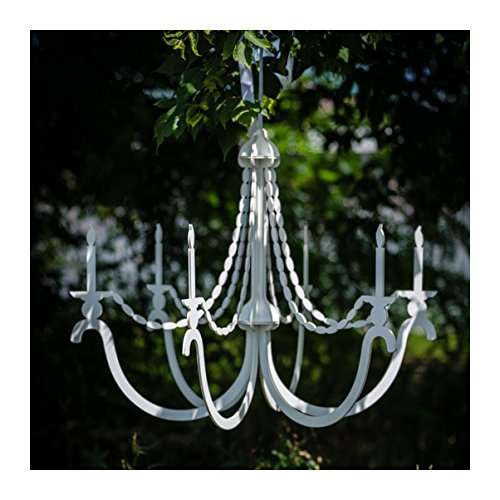 White classic decadent faux Chandelier - elegant and Stylish Party Decoration