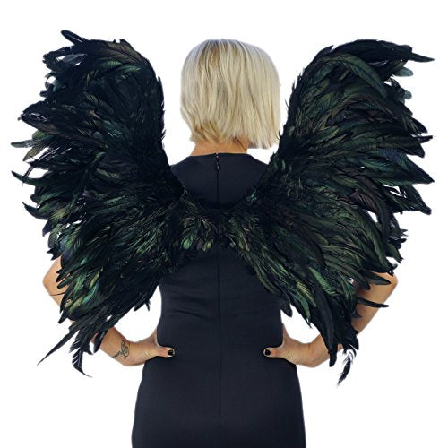 Stunning Large Black Feather Angel Wings