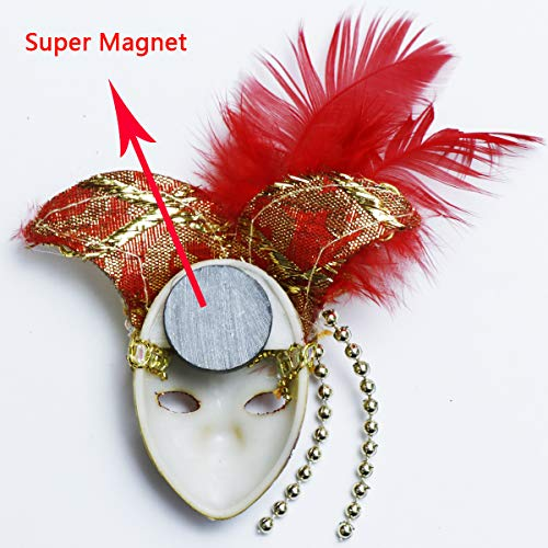 12 x Miniature Mini Masquerade Masks - small Mardi Gras Masks