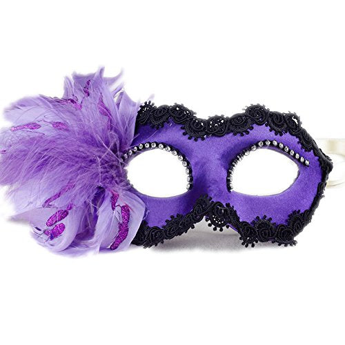 Womens Purple Venetian Masquerade Mask