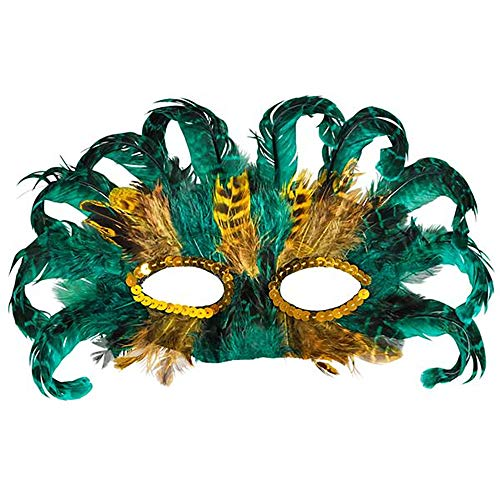 75 Feather Mardi Gras Masks | Bulk Value Pack of Masquerade Party Favors for Costume Parties | Fun Party Supplies for Men, Women and Kids (75 Pack)