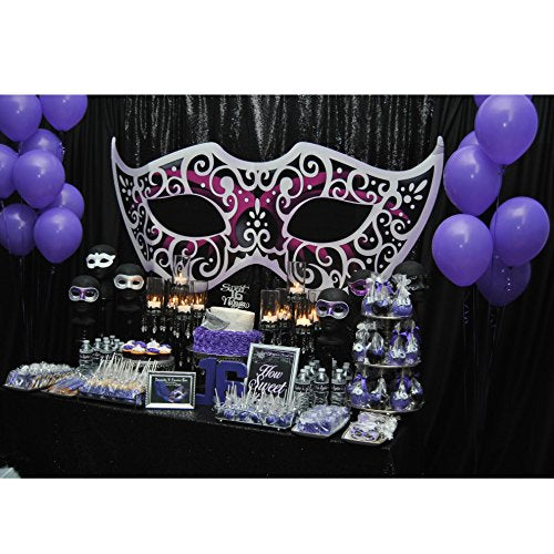 Large Mardi Gras Masquerade Ball Mask Cutout Standup Photo Booth Prop Background Backdrop Party Decoration Decor Scene Setter Cardboard Cutout