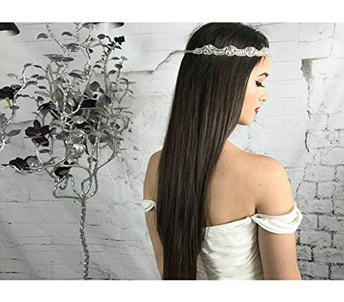 Head Chain, Forehead Headpiece, Bridal, Prom, Wedding crystal headband, Boho Forehead hair accessories