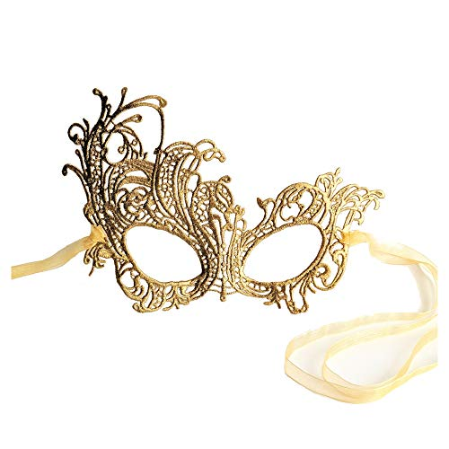 Renaissance Gold Lace Mask