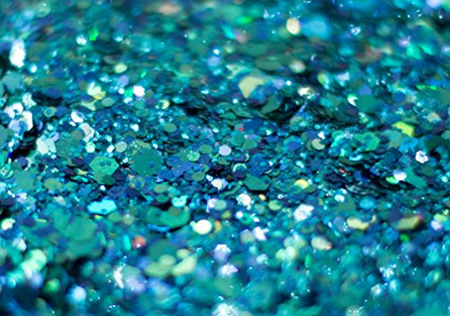 Mermaid Chunky Glitter - Great for Festivals For Use on Face, Body, Hair, and Nails