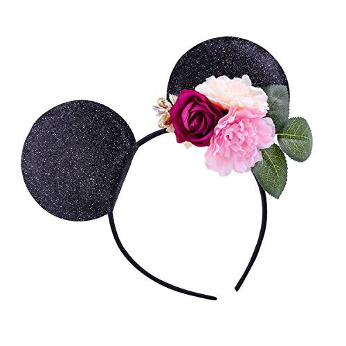 Mickey Mouse Ears Flowers Headband Cute and Pretty