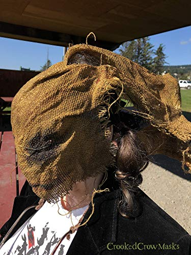 Creepy Scary Burlap Horror Mask - Adult Halloween Mask - Custom Handmade Movie Props - Scarecrow Purge Killer Animal