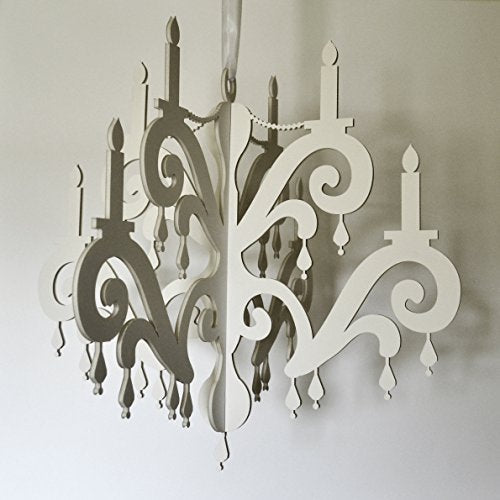 White Jewel Faux Chandelier - Simple and Stylish Party Decoration