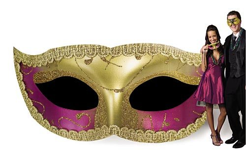 Glitter Masquerade Mask Mardi Gras Standee Standup Photo Booth Prop Background Backdrop Party Decoration Decor Scene Setter Cardboard Cutout
