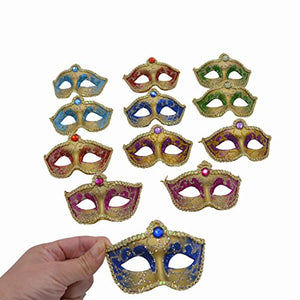 Miniature Masquerade venetian Mask Party Decorations - Multi Color