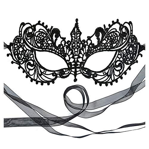 Black Goddess Lace Mask