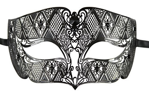Luxury Metal Mask - Laser Cut Venetian Masquerade Mask for Men