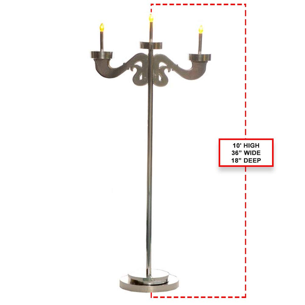 Single 3-Arm Candelabra Kit, Masquerade Décor, Mardi Gras Décor