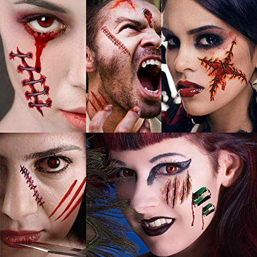 Halloween Gruesome Tattoo Sticker Makeup Kit  for adults and children