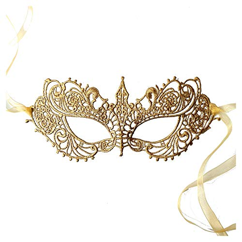 Gold Goddess Lace Mask