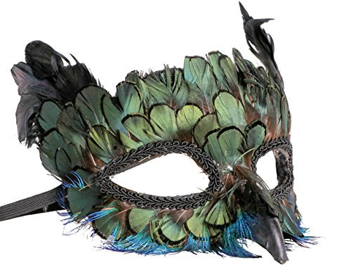 Western Fashion Peacock Feather Masquerade Mask